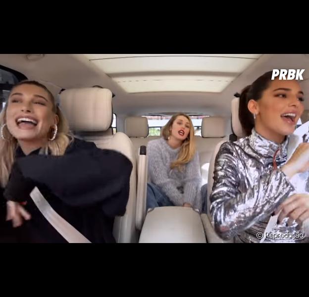 """Hailey Baldwin e Kendall Jenner participam do """"Carpool Karaoke"""""""