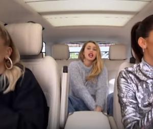 """Miley Cyrus faz aparição surpresa no """"Carpool Karaoke"""" com Hailey Baldwin e Kendall Jenner"""