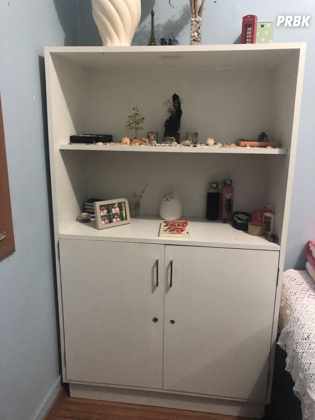 Agora mudei a estante de lugar e arrumei tudo