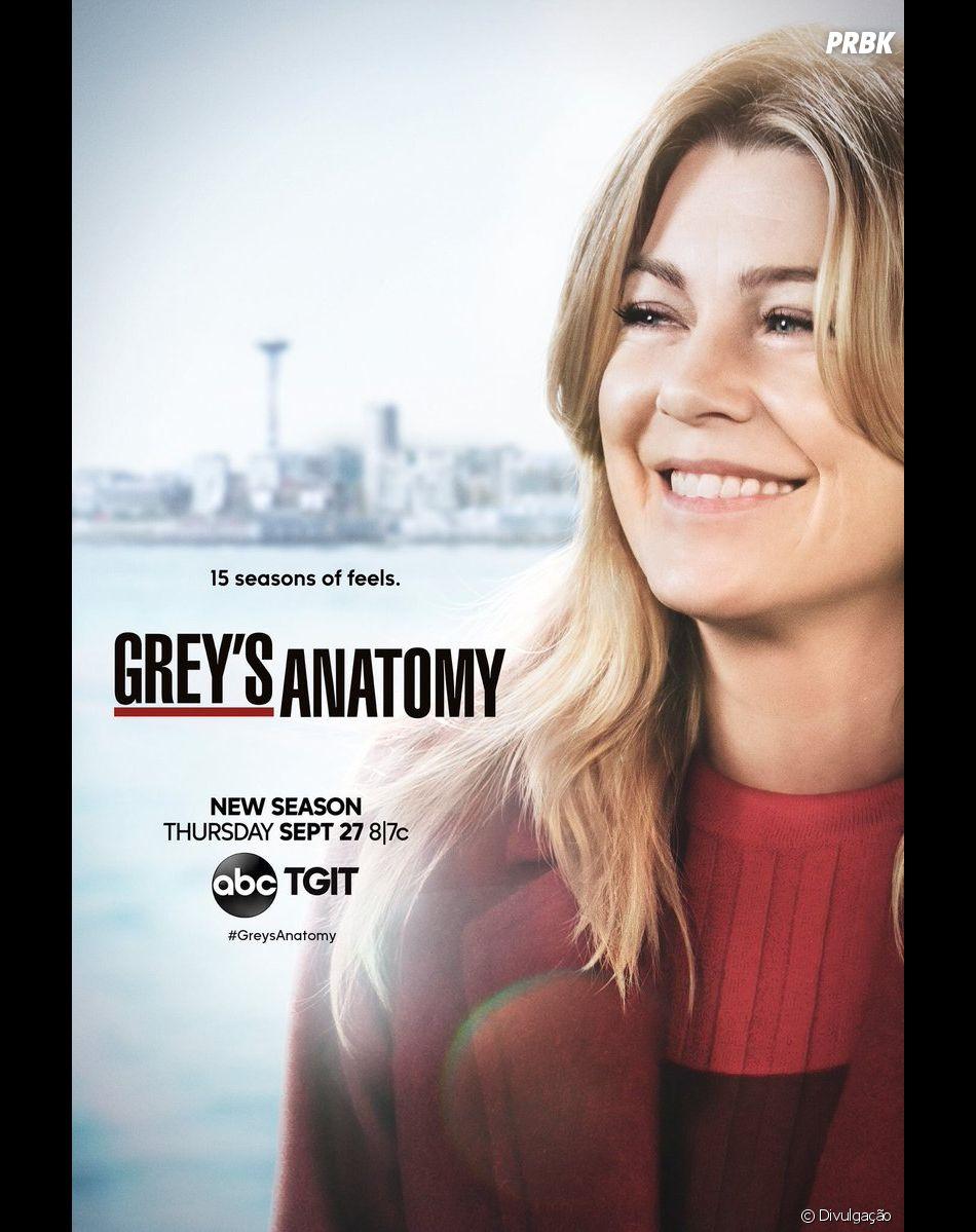 """Parece que os fãs não curtem esse novo namorado da Meredith (Ellen Pompeo) em""""Grey's Anatomy"""""""