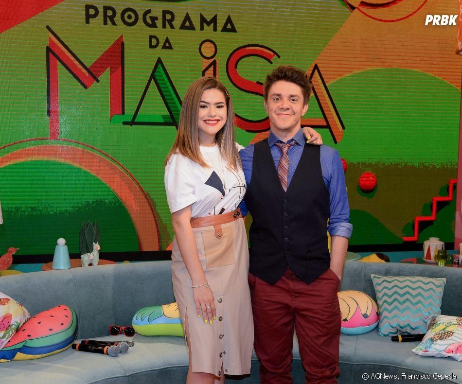 """Maisa ao lado de Oscar Filho, seu parceiro no """"Programa da Maisa"""""""
