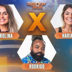 """Carol Peixinho, Rodrigo e Hariany se enfrentam no Paredão do """"BBB19""""; quem deve sair? Vote"""