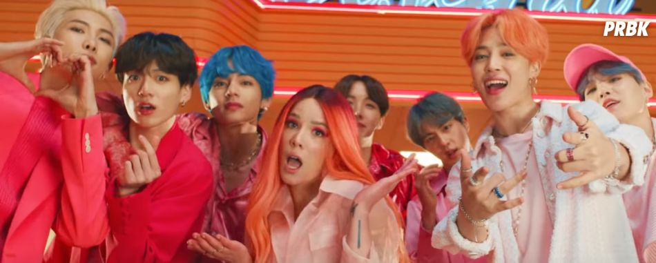 """Boy With Luv"", do BTS com a Halsey, chega destruindo e quebra recordes para o ""MAP OF THE SOUL: PERSONA"""