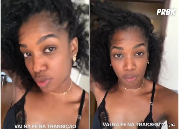 Iza mostra o seu cabelo natural nos Stories