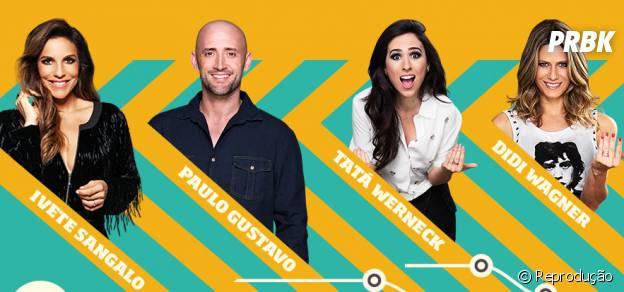 Tatá Werneck, Ivete Sangalo, Didi Wagner e Paulo Gustavo serão os apresentadores oficiais do Prêmio Multishow 2014