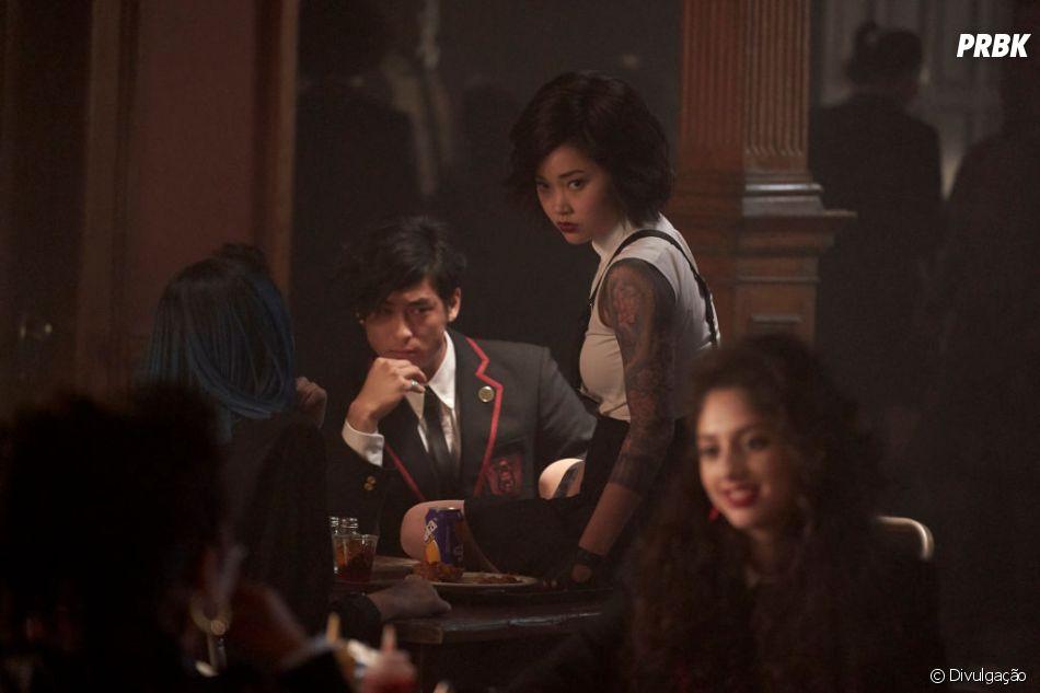 """Lana Condorcomo Saya em """"Deadly Class"""", que está disponivel na Globo Play"""