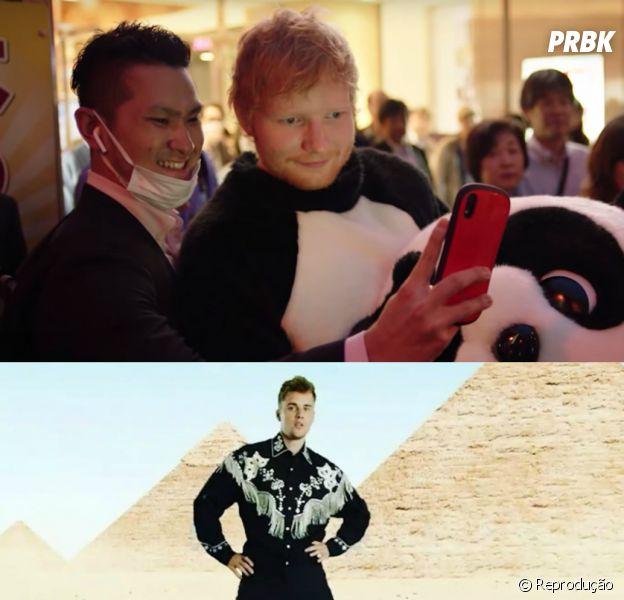 """""""I Don't Care"""": Justin Bieber e Ed Sheeran divulgam trecho do clipe"""