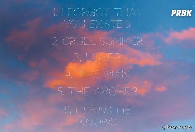 """Taylor Swift divulga tracklist do álbum """"Lover"""""""