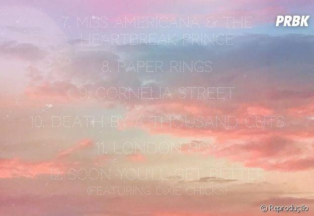 """""""Lover"""":Taylor Swift divulga tracklist do álbum"""