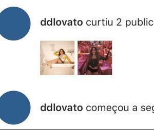 Demi Lovato seguiu Anitta e curtiu outras publicações da cantora