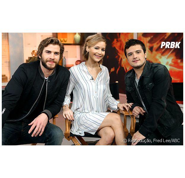 """O trio de atores marcou presença no programa de TV """"Good Morning America"""""""