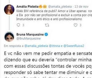 Bruna Marquezine briga com fã de Marina Ruy Barbosa no Twitter