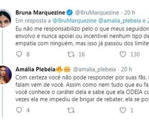 Bruna Marquezine briga com perfil fã de Marina Ruy Barbosa no Twitter