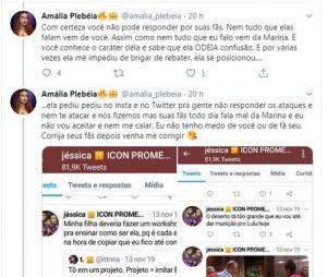 No Twitter, Bruna Marquezine briga com fã de Marina Ruy Barbosa