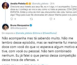 Bruna Marquezine se irrita com fã de Marina Ruy Barbosa no Twitter