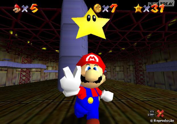 Os testes foram feitos com o jogo Super Mario 64