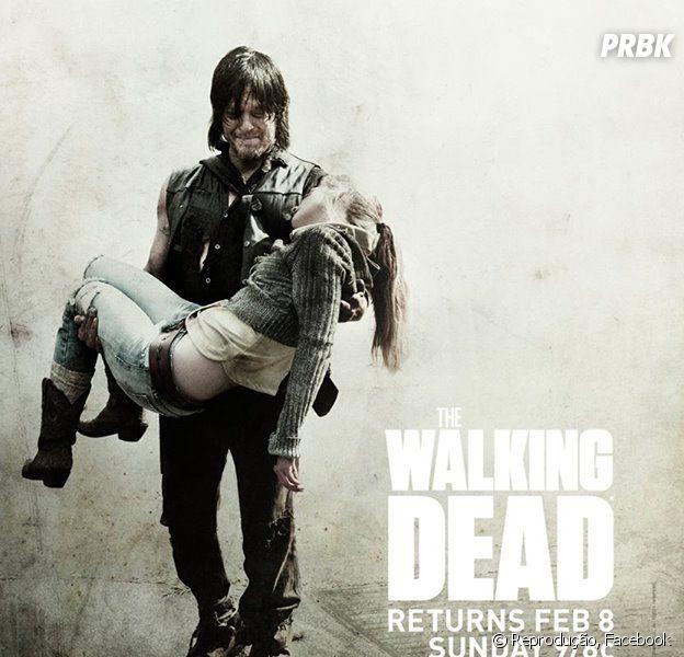 """Em """"The Walking Dead"""", Daryl (Norman Reedus) ficou inconsolável com a morte de Beth (Emily Kinney)"""