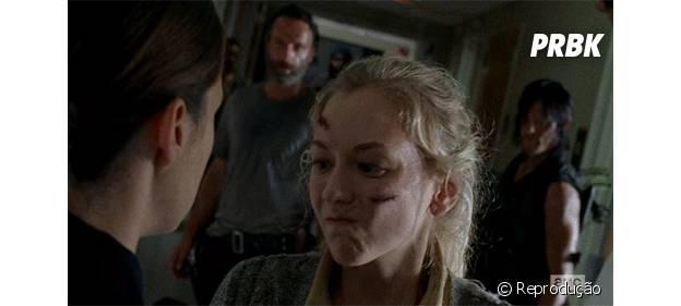 """Beth (Emily Kinney) morre em """"The Walking Dead"""""""