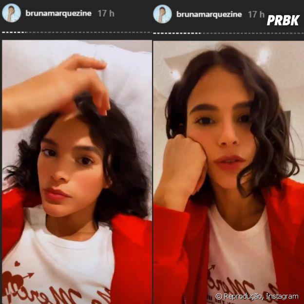 Veja o cabelo natural de Bruna Marquezine
