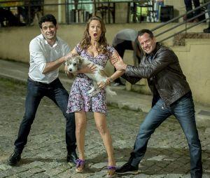 """""""Haja Coração"""": Tancinha (Mariana Ximenes), Apolo (Malvino Salvador) e Beto (João Baldasserini) são o trio de protagonistas que a gente não consegue torcer por nenhum"""
