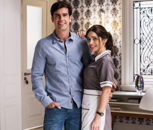 """""""Haja Coração"""": Shirlei (Sabrina Petraglia) e Felipe (Marcos Pitombo) são os únicos que salvam e mesmo assim o casal é recheado de clichês cafonas"""