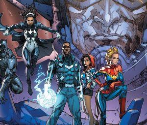 Nos quadrinhos, Monica Rambeau integra os Supremos, equipe com Capitã Marvel e Pantera Negra