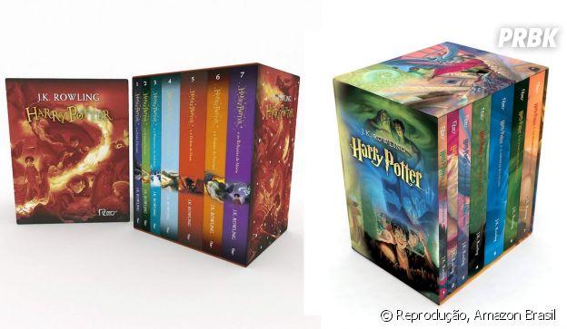 """""""Harry Potter"""":Box Livros Harry Potter - Capas Novas e Capas Clássicas"""