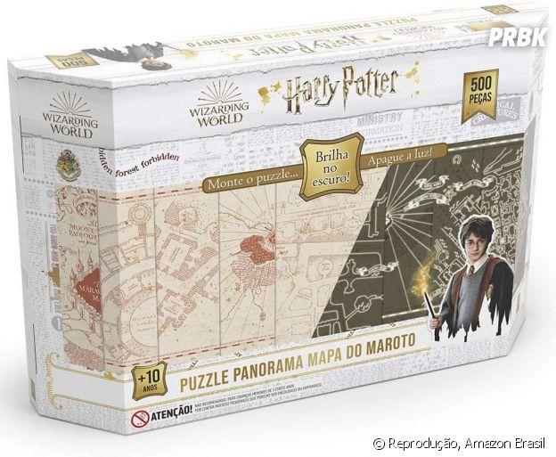 """""""Harry Potter"""":Quebra-Cabeças Mapa do Maroto - 500 peças e brilha no escuro"""