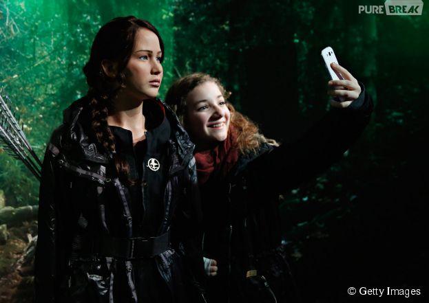 A estátua de cera de Katniss Everdeen fez a alegria dos fãs