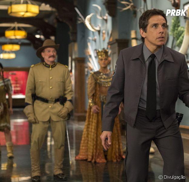 """Com Ben Stiller e Robin Williams no elenco, """"Uma Noite no Museu 3"""" estreia nesta quinta-feira (1) nos cinemas brasileiros"""