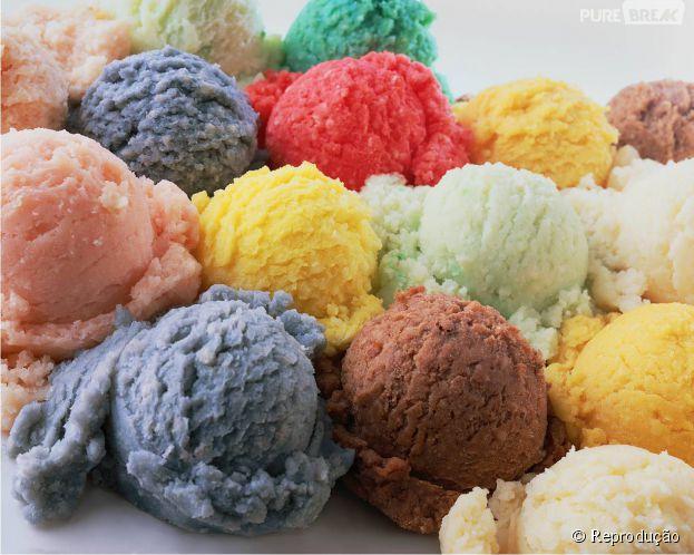 Nada melhor que sorvete de fruta nesta calor!