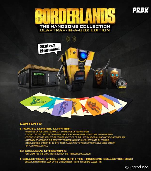 """""""Borderlands: The Handsome Collection"""" terá edição de colecionador limitada"""