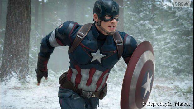 """Capitão América (Chris Evans) aparece incrível em novas imagens de """"Os Vingadores 2"""""""