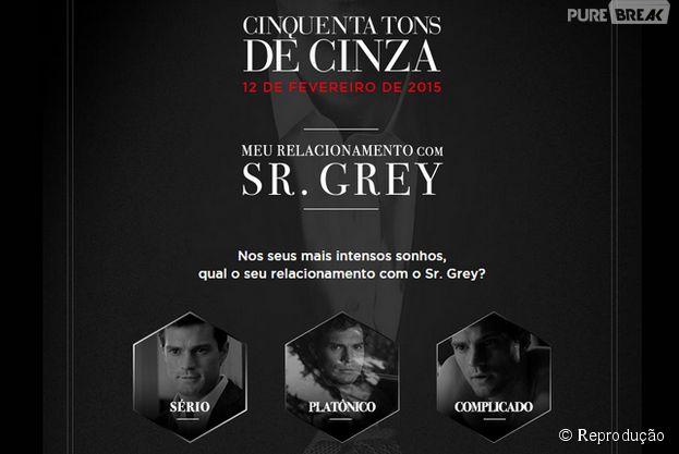"""Aplicativo de """"Cinquenta Tons de Cinza"""" permite usuário a definir status de relacionamento com Christian Grey no Facebook"""