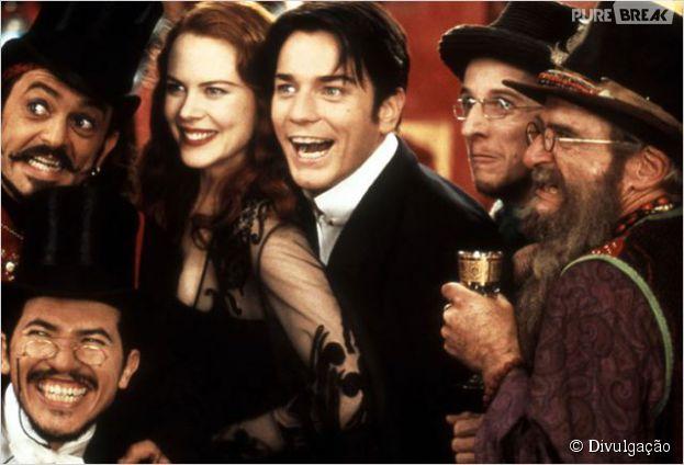 """O longa """"Moulin Rouge"""" se destacou,na categoria """"Melhor Figurino"""", com fantasias irreverentes e coloridas"""