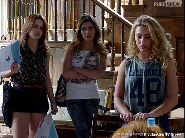 """Em """"Malhação"""", Sofia (Hanna Romanazzi) e Anita (Bianca Salgueiro) vão desmascarar Meg (Chrysti Ane Lopes)!"""