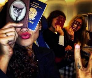 Junto com Sophie Charlotte, Thaila Ayala e Fiorella Matteis, Débora Nascimento partiu em viagem para os Estados Unidos, a primeira parada é Nova York