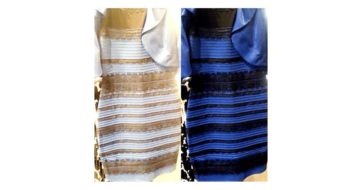 Qual A Cor Do Vestido Branco E Dourado Ou Azul E Preto