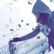 Bruna Marquezine alimenta esquilos e pássaros em Nova York, nos EUA!