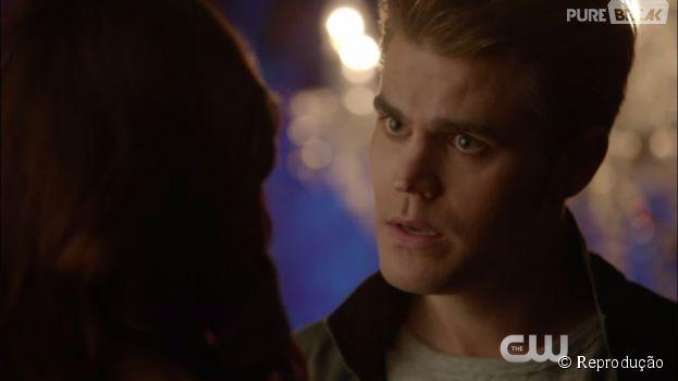 "Em ""The Vampire Diaries"", Stefan (Paul Wesley) se desespera na busca por Caroline (Candice Accola)"