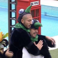 """No """"BBB15"""": Fernando e Adrilles ganham prova da comida no reality e estão no Tão com Tudo!"""