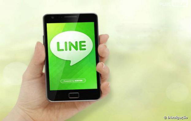 """O """"Line""""registrou 7 bilhões de mensagens trocadas em agosto deste ano e estabeleceu seu novo recorde"""