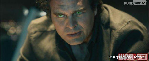 """Mark Ruffalo interpreta o super-herói Hulk, na franquia """"Os Vingadores"""", da Marvel"""