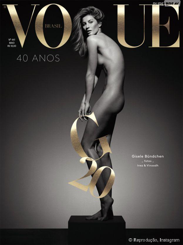 Gisele Bündchen é capa da Vogue Brasil e comemora 20 anos de carreira!