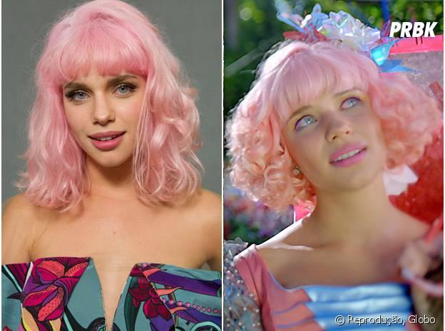 """Bruna Linzmeyer pintou o cabelo de rosa para """"Meu Pedacinho de Chão"""""""
