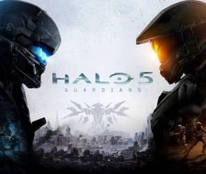"""Arte da capa de """"Halo 5: Guardians"""" mostra o confronto entre Locke e Master Chief"""
