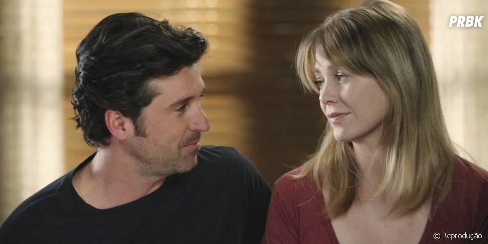 Em Greys Anatomy Derek Patrick Dempsey E Meredith Ellen Pompeo