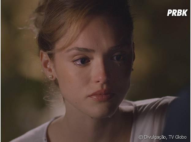 "Em ""Sete Vidas"", da Globo, Júlia(Isabelle Drummond) fica triste ao ser deixada de lado por Pedro (Jayme Matarazzo)"