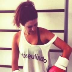 Só no jab direto! Fernanda Paes Leme treina muay-thai com Bruno Gagliasso e Giovanna Ewbank