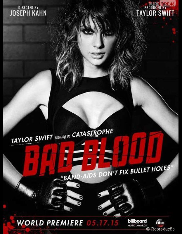"Taylor Swift incorpora a personagem ""Catastrophe"" no clipe de ""Bad Blood"""